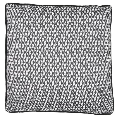 Rustic Scandinavian Etno Throw Pillow Color: Black