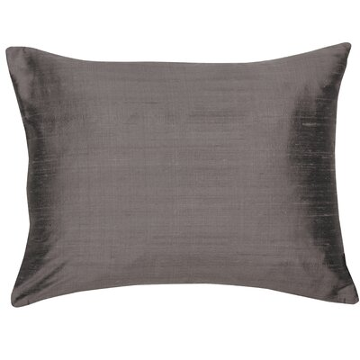 Essentials Bohemia Dupion Silk Lumbar Pillow Color: Anthracite