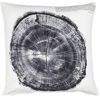 Rustic Scandinavian Woodcut Cotton Throw Pillow