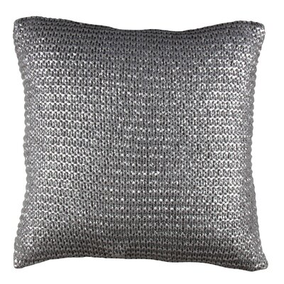 Rustic Scandinavian Armour Throw Pillow Color: Dark Gray / Silver
