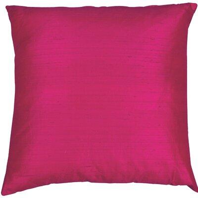 Essentials Dupion Silk Throw Pillow Color: Cerise