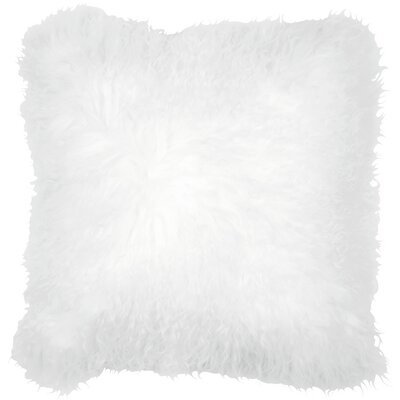 Essentials Fuyu Mongolian Throw Pillow Color: White
