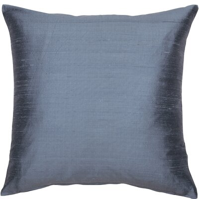 Essentials Dupion Silk Throw Pillow Color: Steel Blue
