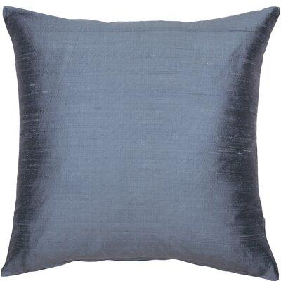 Essentials Dupion Silk Throw Pillow Color: Steel Blue