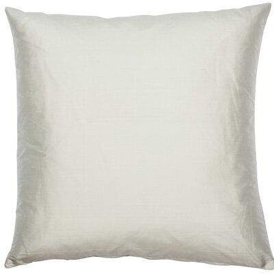 Essentials Dupion Silk Throw Pillow Color: Vanilla