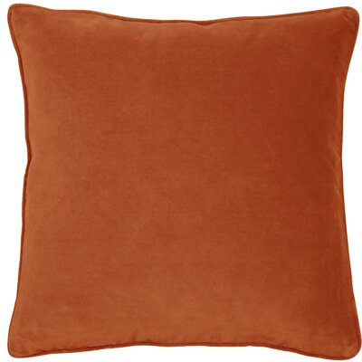 Essentials Veronica Cotton Throw Pillow Color: Orange