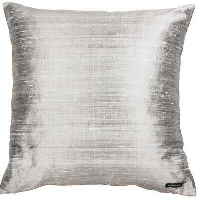 Essentials Dupion Silk Throw Pillow Color: Silver
