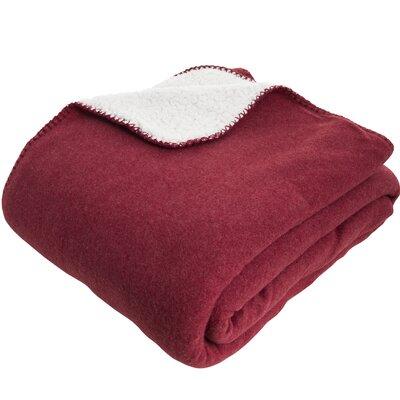 Essentials Silja Throw Color: Red