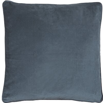 Essentials Veronica Cotton Throw Pillow Color: Steel Blue