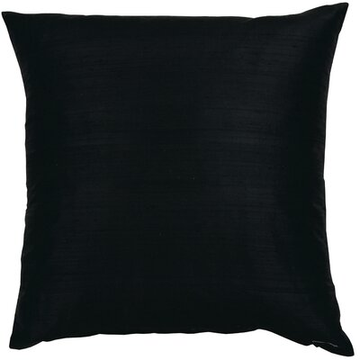 Essentials Dupion Silk Throw Pillow Color: Black