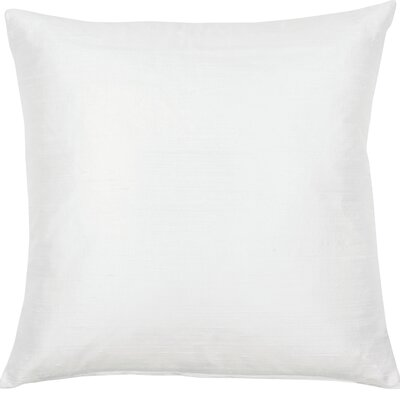 Essentials Dupion Silk Throw Pillow Color: White