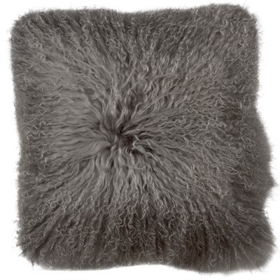 Essentials Fuyu Mongolian Throw Pillow Color: Gray