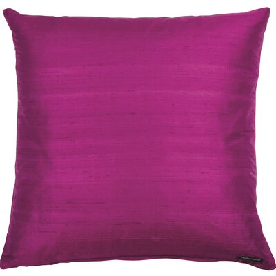Essentials Dupion Silk Throw Pillow Color: Purple