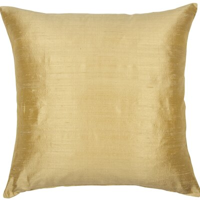 Essentials Dupion Silk Throw Pillow Color: Golden