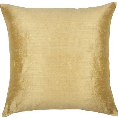Essentials Dupion Silk Throw Pillow Color: Golden