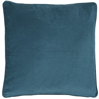Essentials Veronica Cotton Throw Pillow Color: Petrol