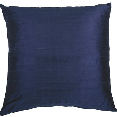 Essentials Dupion Silk Throw Pillow Color: Dark Blue