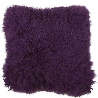 Essentials Fuyu Mongolian Throw Pillow Color: Dark Purple