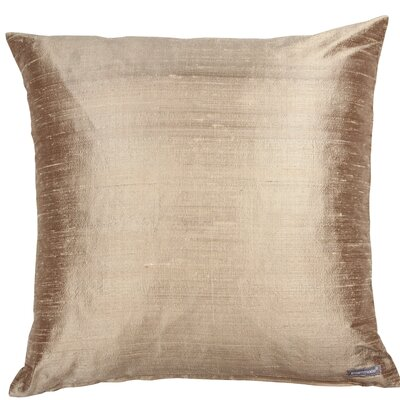 Essentials Dupion Silk Throw Pillow Color: Champagne