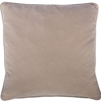 Essentials Veronica Cotton Throw Pillow Color: Mauve