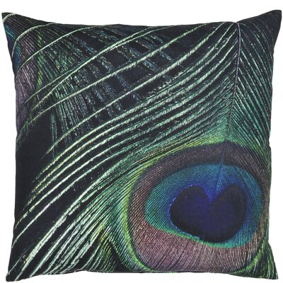 Classic Trend Peacock Feather Cotton Throw Pillow