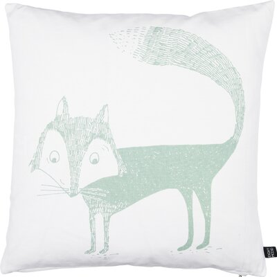 Kids Fox Cotton Throw Pillow