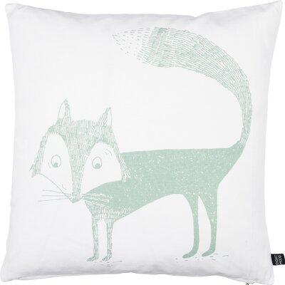 Kids Fox Cotton Throw Pillow