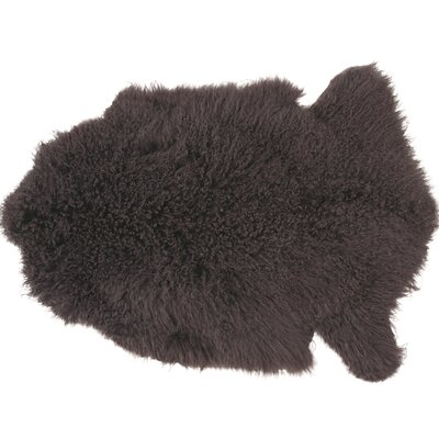 Essentials Fuyu Sheepskin Mongolian Taupe Area Rug