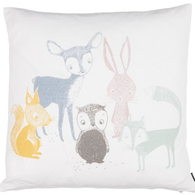 Kids Best Friends Cotton Throw Pillow