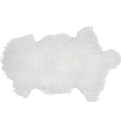 Essentials Fuyu Sheepskin Mongolian White Area Rug