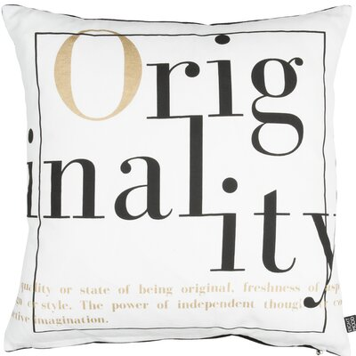 Classic Trend Originality Cotton Throw Pillow