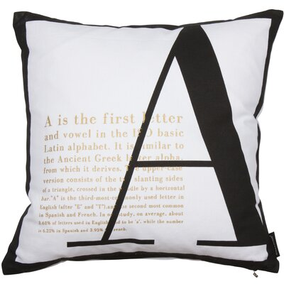 Nordic Icon Alpha Cotton Throw Pillow