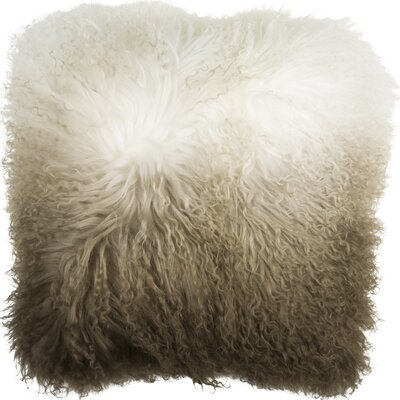 Roots Fuyu Dip Dyed Mongolian Throw Pillow