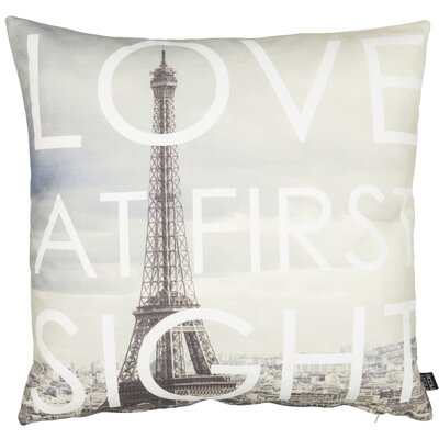 Modern Romance Parisian Cotton Throw Pillow