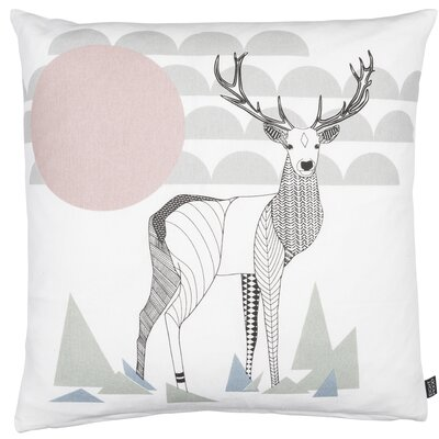 Modern Romance Deer Cotton Throw Pillow