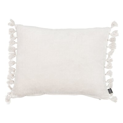 Roots Fringes Cotton Lumbar Pillow Color: Sand