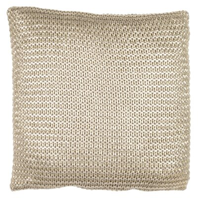 Rustic Scandinavian Armour Throw Pillow Color: Taupe / Gold