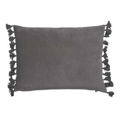 Rustic Scandinavian Fringes Cotton Lumbar Pillow Color: Lite Gray