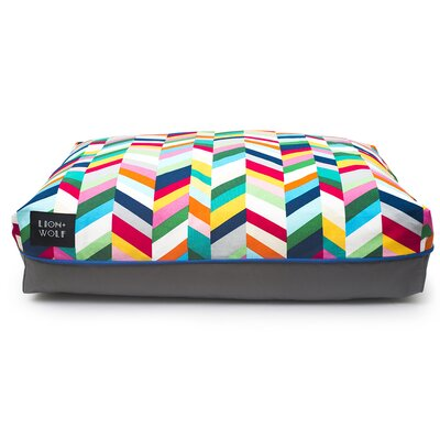 Geo Chevron Cat Bed Color: Technicolor