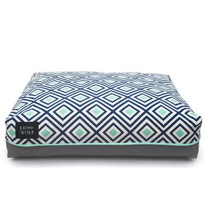 Geo Replacement Pet Bed Cover Size: Large (40 L x 33 W), Color: Aquatic
