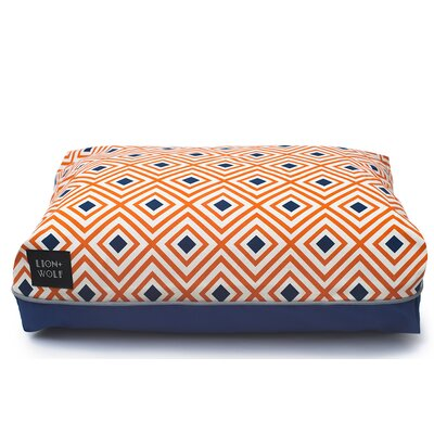 Geo Rhombus Cat Bed Color: Creamsicle