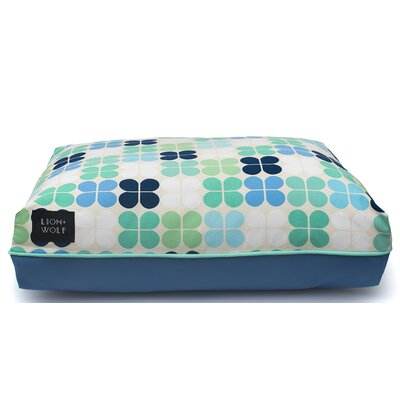 Geo Petal Dog Pillow Color: Mint, Size: Medium (33 L x 27 W)