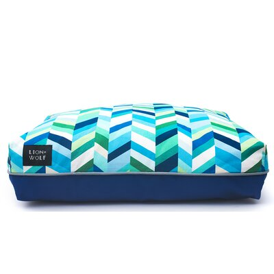 Geo Chevron Dog Pillow Color: Sea Glass, Size: Small (27 L x 21 W)
