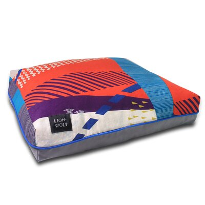 Cloudburst Dog Pillow Size: Large (40 L x 33 W), Color: Tomato