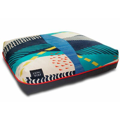 Cloudburst Dog Pillow Color: Teal, Size: Small (27 L x 21 W)