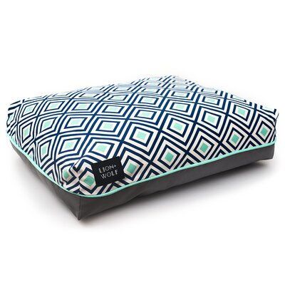 Geo Replacement Pet Bed Cover Color: Aquatic, Size: Small (27 L x 21 W)