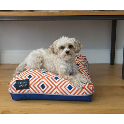 Geo Replacement Pet Bed Cover Size: Large (40 L x 33 W), Color: Creamsicle