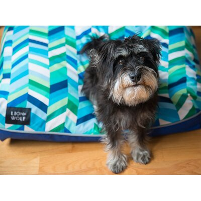Geo Replacement Pet Bed Cover Color: Sea Glass, Size: Large (40 L x 33 W)