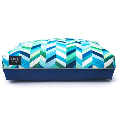 Geo Chevron Cat Bed Color: Sea Glass