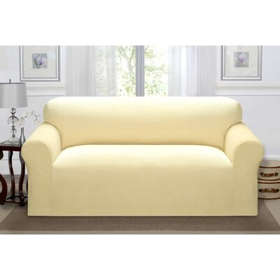 Day Break Polyester Sofa Slipcover Upholstery: Cream